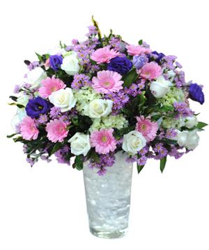 Pha lê tím hoa sinh nhật