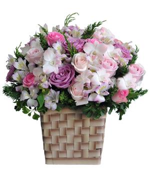 Lối ngõ hoa sinh nhật