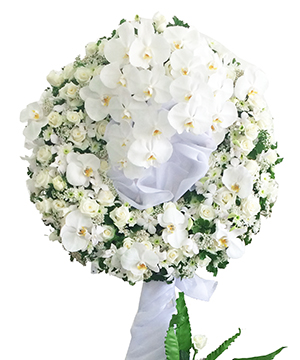 vô hình vòng hoa tang lễ