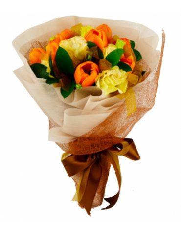 Hoa sinh nhật khi hoàng hôn